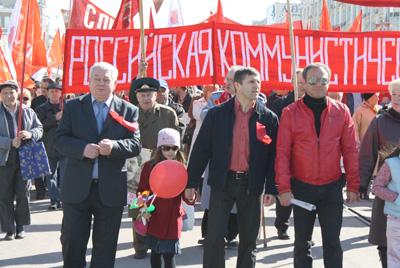 Владимир Коньков на майской демонстрации