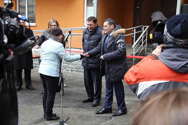 Вручение ключей от квартир в ЖК Рощинский